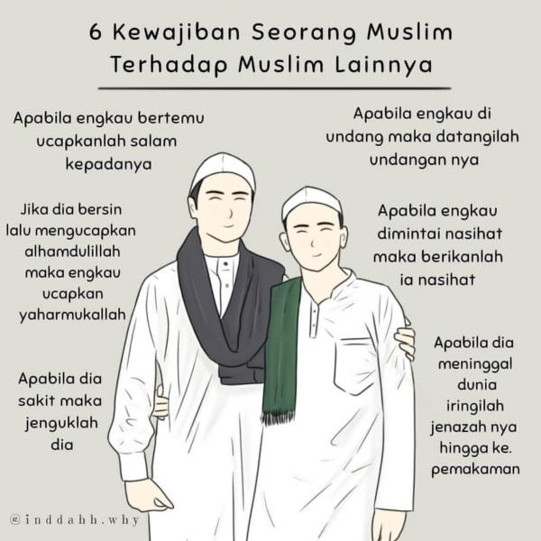 6-kewajipan-seorang-muslim-kepada-muslim-lainnya