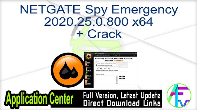 NETGATE Spy Emergency 2020.25.0.800 x64 + Crack