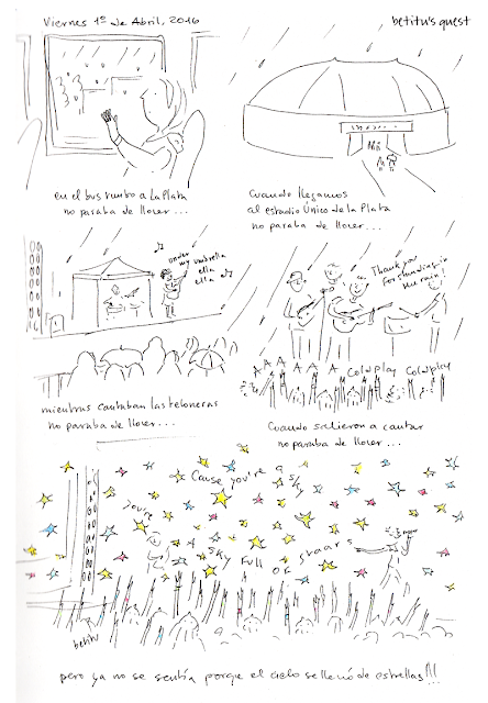 Coldplay in La Plata, Buenos Aires by betitu - True Story sketchbook