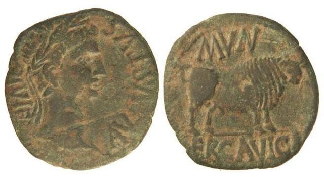 Monedas de la ciudad romana de Ercávica 003