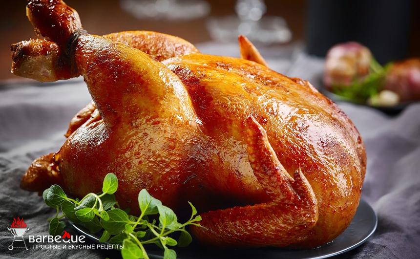 Курица на гриле в духовке
