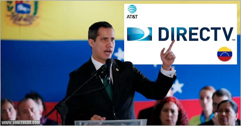 Juan Guaidó asegura que la señal de DirecTV se puede restituir desde otro país
