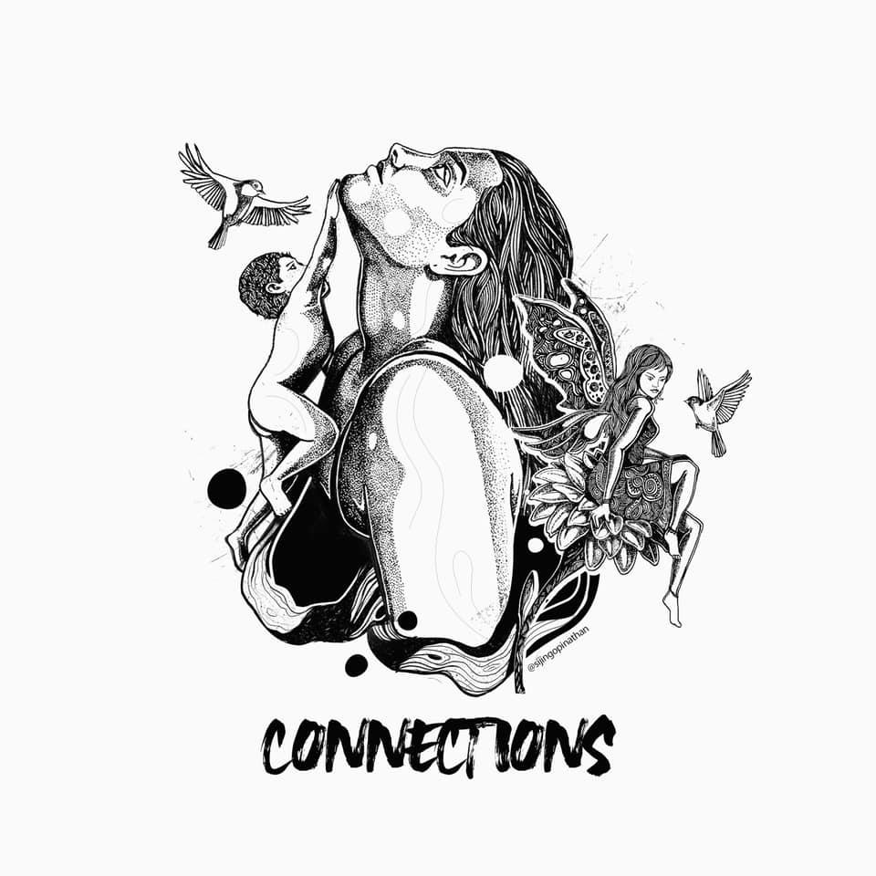 connections - doodle art