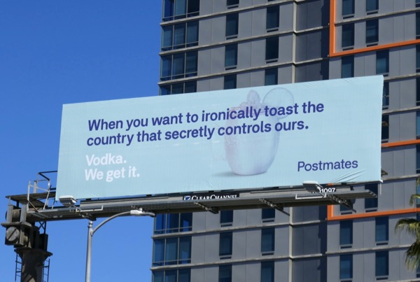 Vodka Postmates billboard