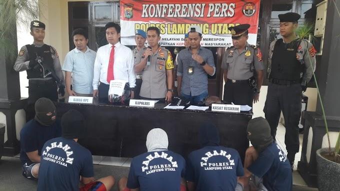 Polres Lampung Utara Ungkap 16 Kasus  Selama Bulan Januari 2019