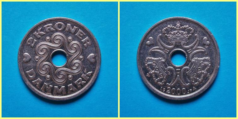 2 Coronas Danesas