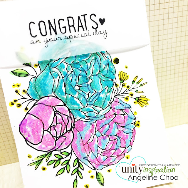 ScrappyScrappy: [NEW VIDEO] Ombre Glitter Flowers with Unity Stamp #scrappyscrappy #unitystampco #card #cardmaking #ombre #glitter #flowers #ombreflowers #congratscard #quicktipvideo #youtube #papercraft #craft