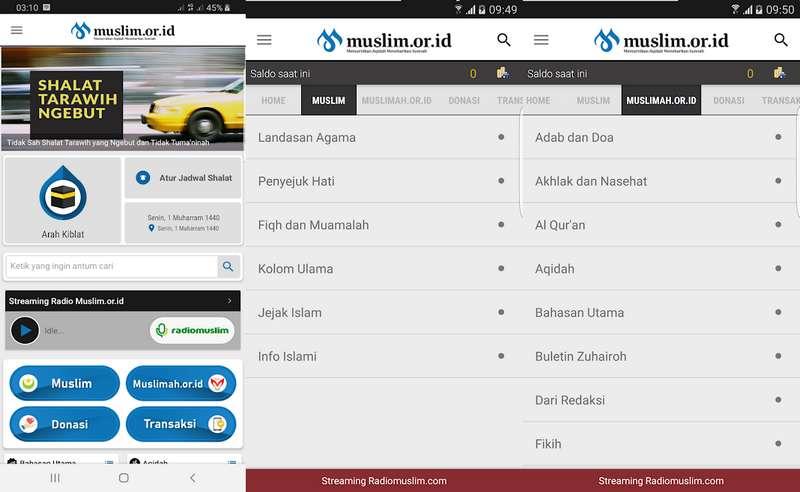 Aplikasi Muslim.or.id