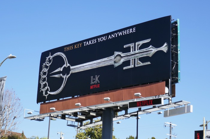 This key takes you anywhere Locke & Key Netflix billboard