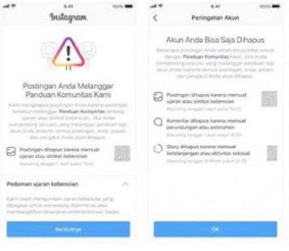 Instagram Pembaruan kebijakan mengenai mekanisme penonaktifan akun