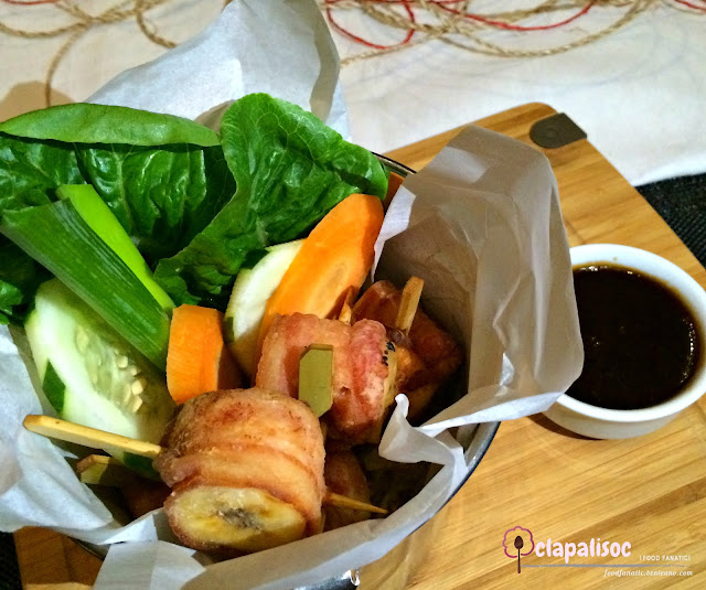 "Banana Wrapped in Bacon ""Harumaki"" from City Garden Hotel Makati"