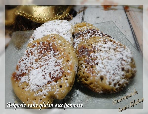 Beignets sans gluten aux pommes à la farine de teff