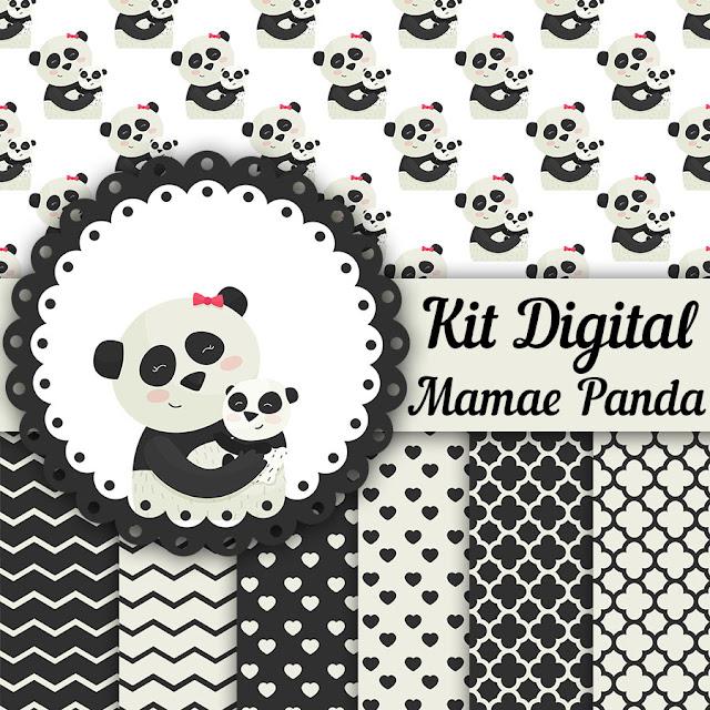 Kit digital Panda Cute grátis para Baixar