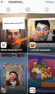 which clown are you on instagram