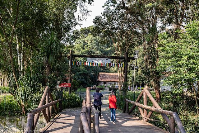 Ponte de acesso ao Bosque João Paulo II pela Rua Euclides Bandeira