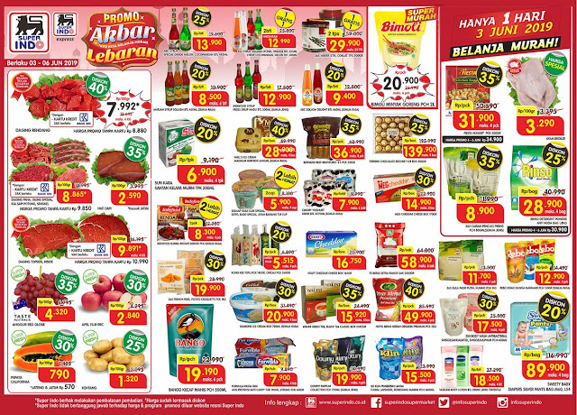#Superindo - #Promo #Katalog Akbar Lebaran Periode 03 - 06 Juni 2019