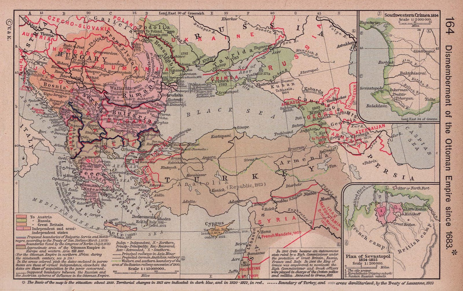 Top Wereldkaart: Kaart Ottomaanse Rijk, Turkije @GB13