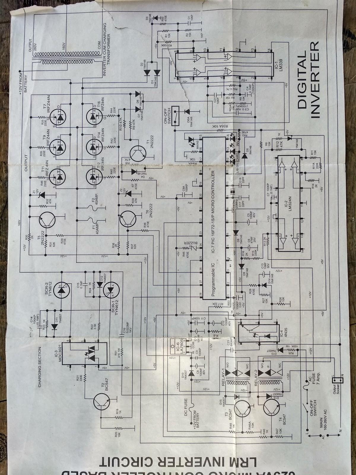 luminous old model inverter circuit diagram hd [ 1200 x 1600 Pixel ]