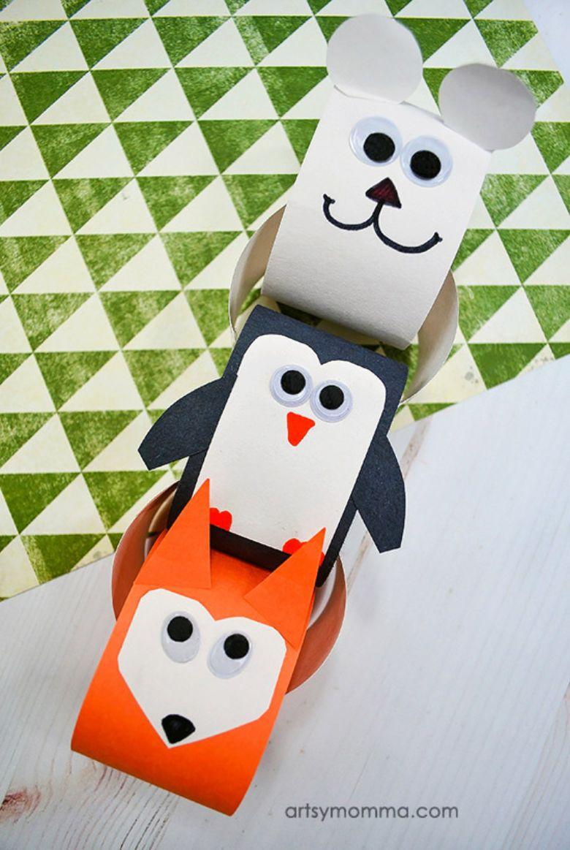 winter animals paper chain winter craft for kids