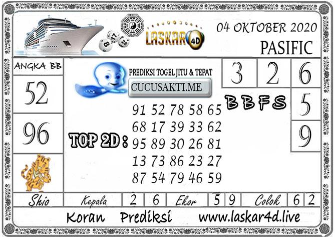 Prediksi Togel PASIFIC LASKAR4D 04 OKTOBER 2020