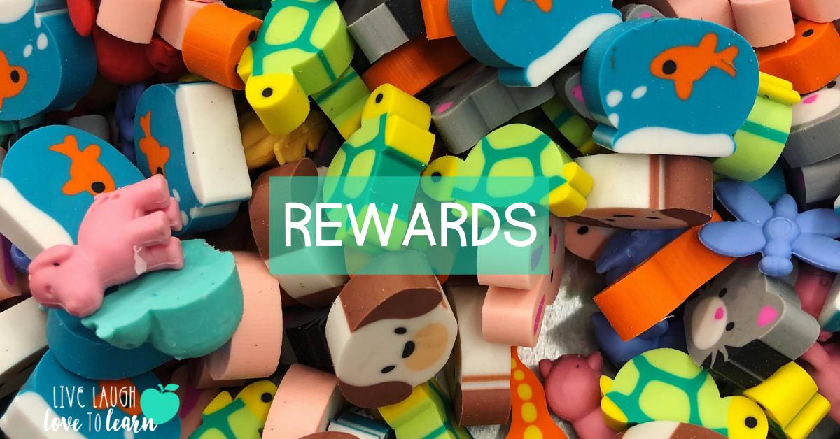 "image of mini animal erasers to use as ""desk pet"" rewards"