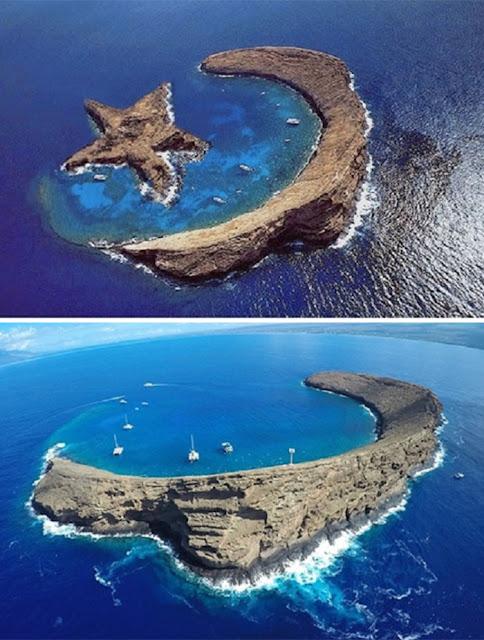 Pulau Yang Tampak Seperti Bintang