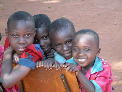 Four orphan children