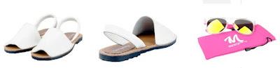 sandalias de piel color blanco tipo menorquinas