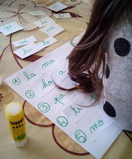 activité syllabes mots maternelle sons école à la maison