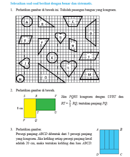 Soal dan Pembahasan Uji Kompetensi 4 halaman 261 Matematika kelas 9 Kesebangunan
