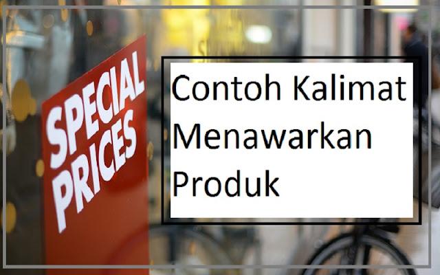 kalimat menawarkan produk