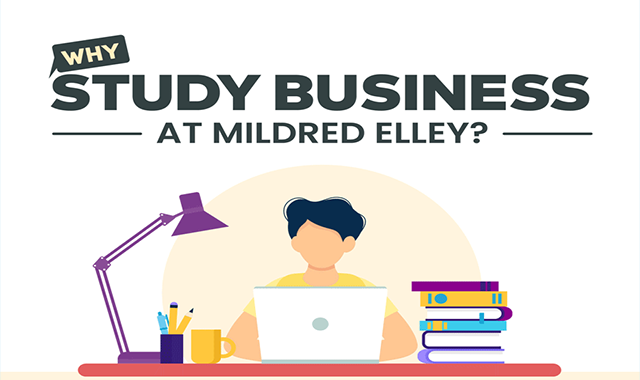 Why Study Business at Mildred Elley? #infographic