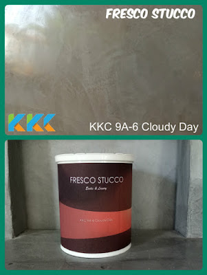 bahan cat fresco stucco abu-abu muda