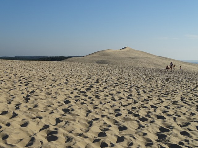 duna pilat punto mas alto francia montículo arena
