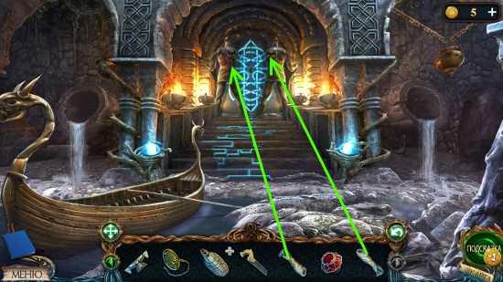 установка рук атлантам, открытие дверей в замок в игре затерянные земли 3