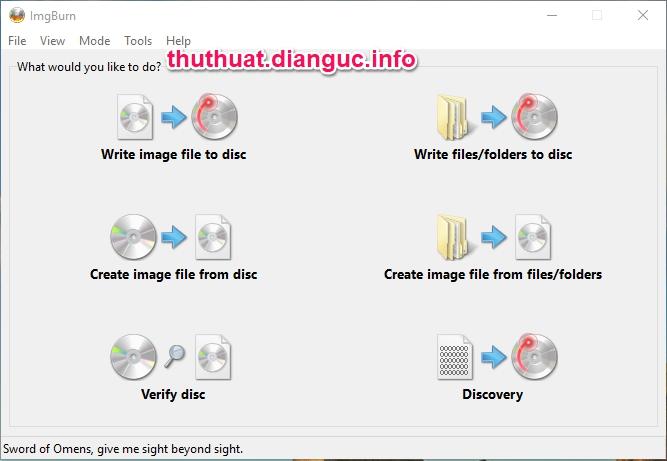Download ImgBurn 2.5.8.0 – Phần mềm ghi tập tin iso ra đĩa miễn phí