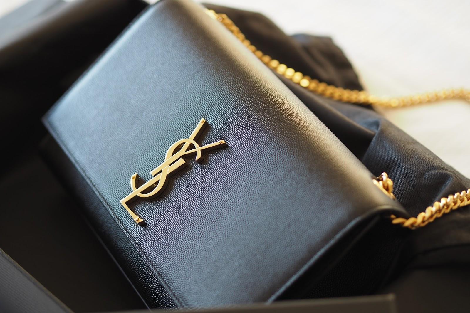 Saint Laurent Classic Medium Kate Monogram Handbag in black