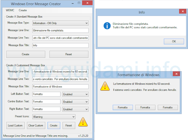 Windows Error Message Creator