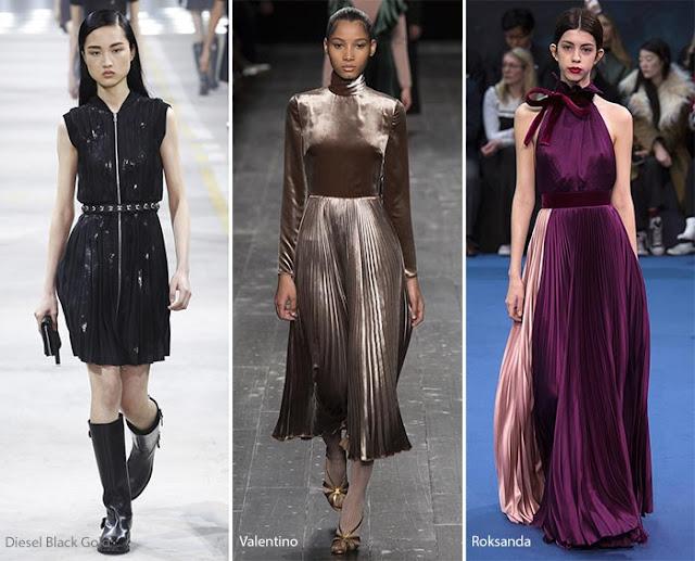 Образы с плиссированной юбкой и платьями с подиума