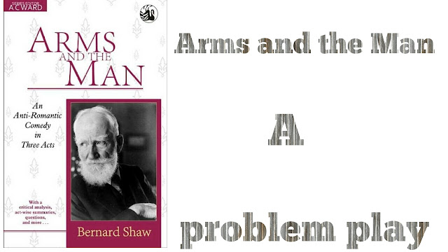 "The term 'problem play' was coined by Sydney Grundy who used In a disparaging sense for the intellectual drama of the nineties, which he believed was marching to its doom in the hands of ""a coterie of enthusiastic eccentrice."" Shaw defined it as ""the presentation in parable of the conflict between man's will and his environment."" A problem play is supposed to deal with some problems of human life to be solved by the reader or the spectator. In a problem play the dramatist draws the public attention on the social problems and exposes the follies that lie beneath them. He presents both sides of the problem impartially and leaves the solution to the imagination of the audience.    In Arms and the Man Shaw deals with the problem of romantic illusion about war and love. Raina and Sergius are two apostles of romantic illusion. They have romantic misconceptions about war and love. Shaw shatters their romance through his monthpiece, Bluntschli, who is a realist.    Sergius is the romantic hero of the play Arms and the Man. He is betrothed to Raina. In the Serbo-Bulgarian War, he led a cavalry charge and defeated the Serbian soldiers at the battle of Slivnitza. When Raina comes to know Sergius' victory, she becomes wild in joy and it seems to her that all her romantic ideas about his heroism has been proved true. She worships the portrait of Sergius and regards it as the hero of her soul.    But when she meets Bluntschli, her romance begins to shatter. She has the romantic notion that soldiers are brave and they are not afraid to die. But Bluntschli tells her that soldiers are afraid to die and it is their duty to live as long as they can. He also gives her the idea that food is more important than ammunition in the battle field. He again inculcates in her that Sergius is not a hero in leading the cavalry charge against the artillery because if the Serbs had right kind of ammunition, the cavalry chargers would be massacred. So Bluntschli compares him to Don Quixote, who attacks a windmill mistaking for a giant and congratulates himself on his daring adventure. Now Raina's romance about warvand Sergius' heroism is shattered.    Sergius has romantic illusion about war. To display bravery is the only matter to him. So ignoring the command of the Russian officer and violating the military rules, he led the cavalry charge against the artillery at the battle of Slivnitza. He wins the battle the wrong way. Reality begins go prevail over him when he sees that two Cossack colonels were promoted to major-generals,though they lost the battle following the rules of military warfare strictly, but he was not promoted because though he wins the battle, he violated military rules. Ultimately he realises that soldiering is the coward's art of attacking enemies mercilessly when the enemies are weaker and keeping at a safe distance when the enemies are stronger.When Bluntschli narrates the horror of war, Sergius' romance is completely shattered and he considers war as a hollow sham.    Shaw in the play also deals with the problem of romantic love. Both Raina and Sergius have 'higher love' for each other. But the 'higher love' cannot tie them together. When Raina goes out of his sight, Sergius begins to flirt with Louka, the maid-servant. Louka is a realist. When she realises that romantic Sergius requires earthly love, she entraps him by making the best use of her wit and intelligence and makes him to marry her. Similarly, Raina is drawn to the realist Bluntschli by his original morality, intellectual smartness, freedom from all conventional ideas. She is drawn to him because in him she finds economic security and comfort. So she marries him.    It is often argued that problem play is rarely good art because when the artist gains the upper hand, the artist perishes. The problem playwright is supposed to convey ideas and not to tell a story. So the problem play lacks action. Arms and the Man lacks action. The plot of the play is of minor importance. In the play the emphasis is given on discussion.    Up to a certain extent, Shaw present both sides of war and love---realism and romance---impartially. In a problem play, the given problem remains unsolved. But in Arms and the Man Shaw does not leave the problem unsolved. He advocates the cause of realism in the play. So it is not a problem play but a propaganda play in which the dramatist advocates his own ideas."