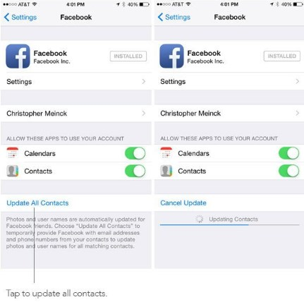 how to sync facebook contacts to iphone sync contacts to iphone 20341