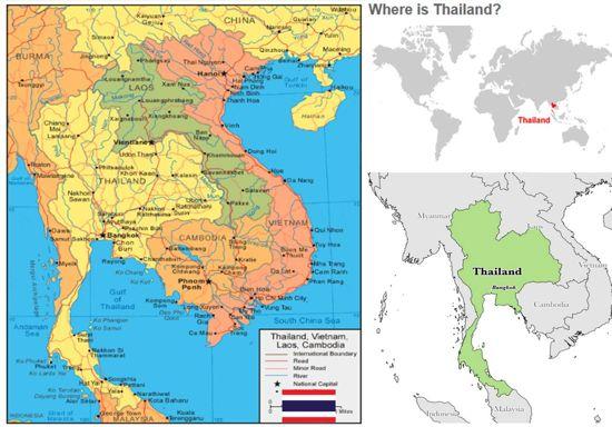 peta profil negara thailand