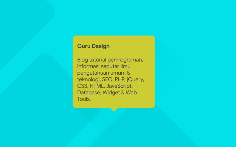 Cara Membuat Tooltip Full CSS Tanpa Bootstrap