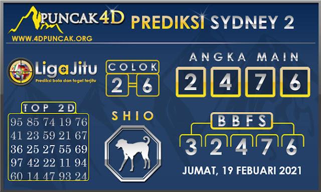 PREDIKSI TOGEL SYDNEY2 PUNCAK4D 19 FEBUARI 2021