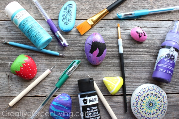 How to paint rocks #ILovePaintedRocks #Creativegreenliving