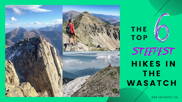 The 6 Steepest Hikes in the Wasatch!