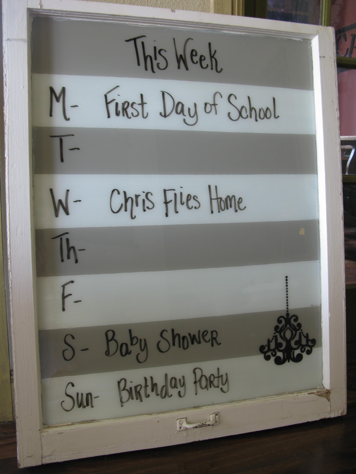 dry erase marker, calendar, old, window