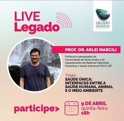 Legado das Águas promove live sobre saúde e meio ambiente
