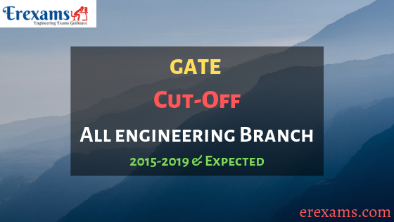 GATE Cut Off Previous and Expected