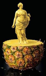 Escultura en fruta